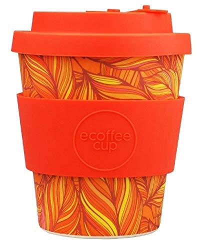 Ecoffee Cup - 8oz Singel with Deep Orange Silicone