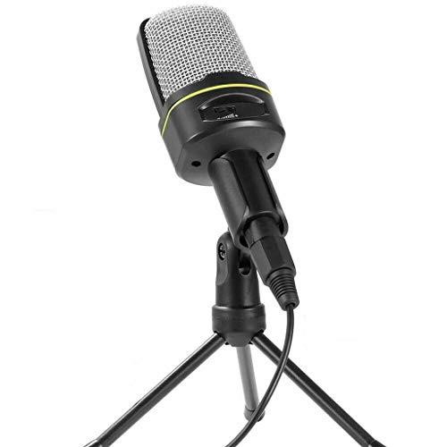 TWDYC Micrófono de Escritorio con Cable Ordenador portátil Trípode Ajustable Micrófono Chat en línea Micrófono de transmisión en Vivo