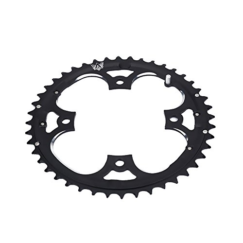 Dioche Fahrrad Kettenblatt, Aluminiumlegierung Single Speed Kettenblatt 44T Fahrrad Radfahren Rundes Kettenblatt für BCD 104mm 9 Geschwindigkeit