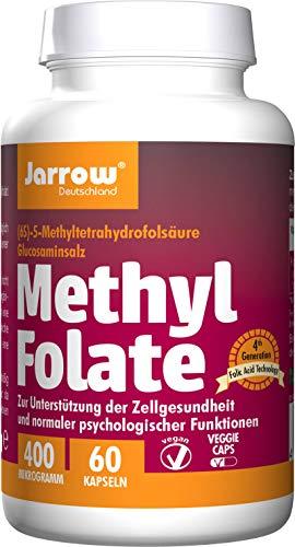 MethylFolate 400µg, 60 Kapseln zur Versorgung mit Folat (Folsäure), wasserlösliche Form, optimal bioverfügbar, Jarrow Deutschland