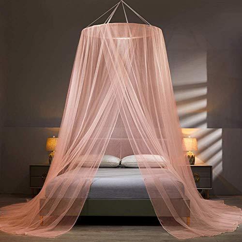 SETSCZY - Mosquiteras para cama infantil, mosquitera, gran mosquitera, mosquitera, mosquitera, mosquitera, dosel para cuna para cuna de bebé, para cama individual, cama doble, color rosa
