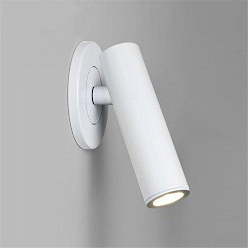 JJZHG wandlamp wandlamp waterdichte wandverlichting ingebouwde draaibare bedlampje LED voor hotelkamer met leeslamp en bedlampje, wit bevat: wandlamp, stoere wandlampen