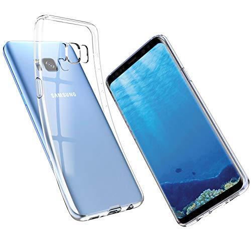 UNBREAKcable Samsung S8 Hülle - Handyhülle Samsung Galaxy S8 Transparent Ultra-Slim Staubdicht, Weiche TPU-Silikon-Schutzhülle für Galaxy S8 mit Vergilbungs-Schutz und Anti-Scratch – Kristallklar