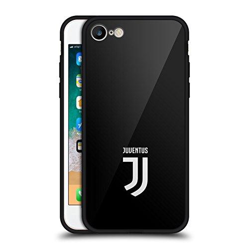 Head Case Designs sous Licence Officielle Juventus Football Club Plaine Style de Vie 2 Coque pour l'arrière Noir Hybride en Verre Compatible avec Apple iPhone 7 / iPhone 8 / iPhone Se 2020