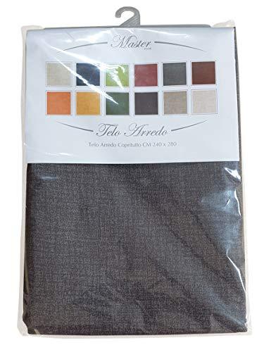 mediatex srl Telo Arredo Sorrento Granfoulard Copritutto Colori Assortiti 240x280 Cm (Grigio)