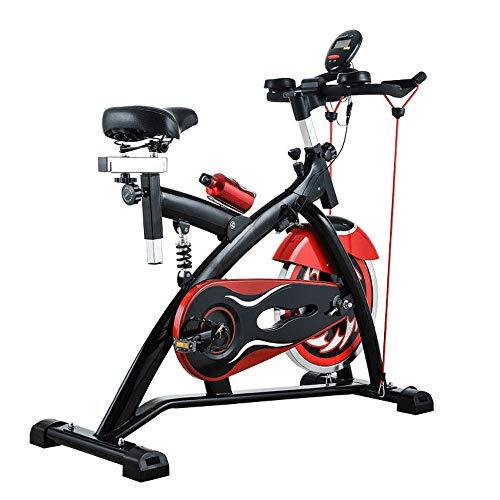 SNOWER Formación de Spin Bike, la Bicicleta estática Home Trainer, Bicicleta estática Profesional de la Aptitud Bicicleta de Carretera, Spin Bike Ultra silencioso Interior, 115X48x96cm