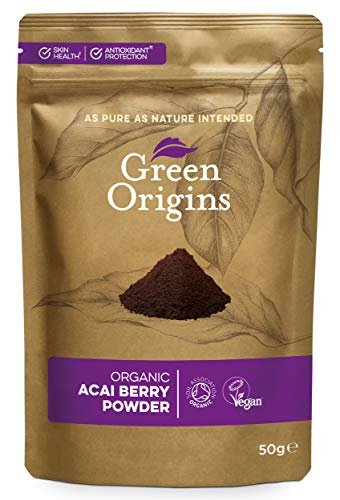 Green Origins Organic Acai Berry Powder, Freeze Dried, Raw 50g