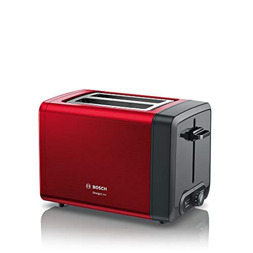 Bosch DesignLine Tostadora compacta, rojo y gris