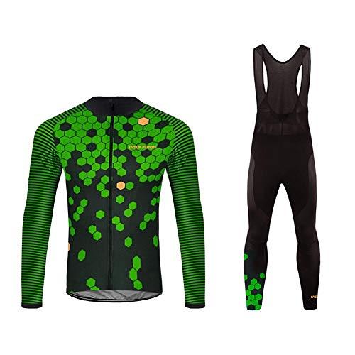 Uglyfrog Winter Maillot de Cyclisme Set Hiver Long Manches Thermique Polaire Coupe-Vent Cyclisme Jersey Manteau Veste avec 20D Rembourr Pantalon