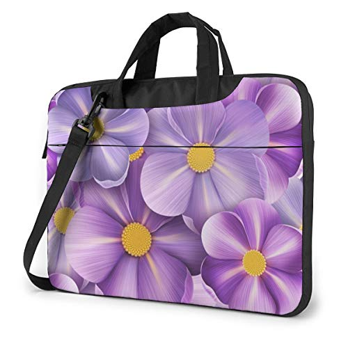 Summer Flower Flax Flowers Laptop Bag Case Sleeve Briefcase Computer Organizer for Women Men 15.6'
