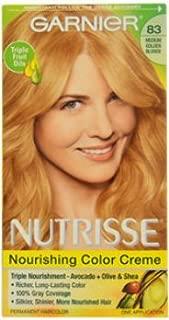 Unisex Garnier Nutrisse Permanent Haircolor, 83 Medium Golden Blonde Cream Soda Hair color 1 pcs sku# 1789504MA