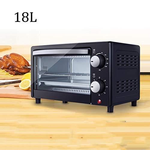 SSCJ 18L Mini-Ofen & Grill mit doppelter Kochplatte 900W & 60 Minuten Timer-Funktion und 6 Wählschalter für Back- und Konvektionsfunktion. Inklusive Grillrost und Backblech