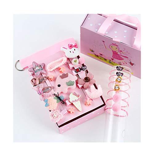Ponytail Enfants Barrettes Bows Gift Box 24 PCS Boutique Enfants En Bas Âge Ties Accessoires Cheveux Set Pour Cadeau D'anniversaire D'enfants De Enfan