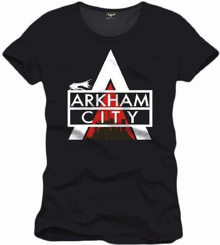 Tshirt homme Batman Arkham city - Logo - Legend Icon - S, Noir