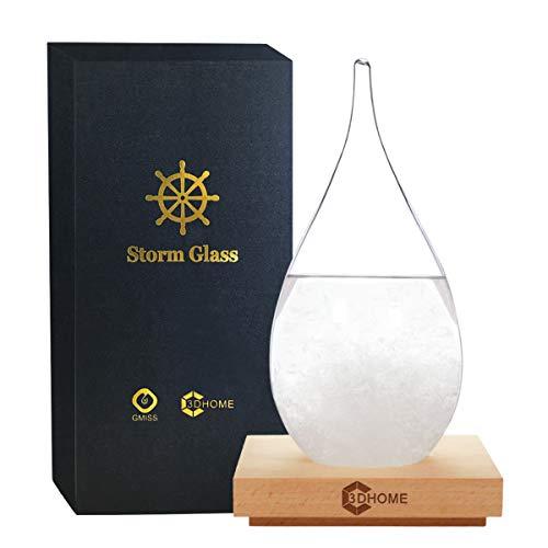 3DHOME Storm Glass Wetterstationen Wassertropfen Wetter Predictor Kreative Vorhersage Nordic Style Dekoratives Wetterglas (X-Large)