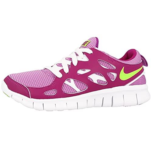 Unisex Sportschuhe für Kinder von Nike, Free Run 2 (GS), - Pink Purple / White - Größe: 37.5