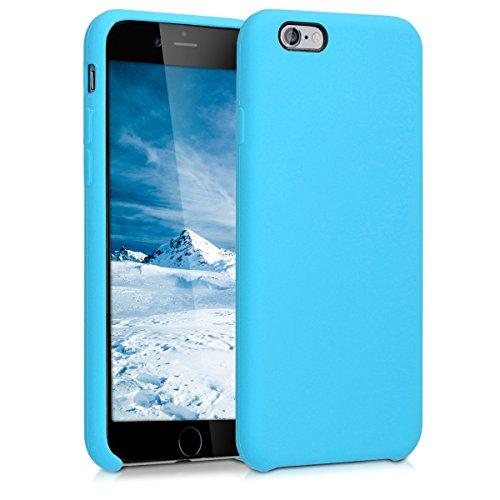 kwmobile Funda Compatible con Apple iPhone 6 / 6S - Carcasa de TPU para móvil - Cover Trasero en Azul Claro