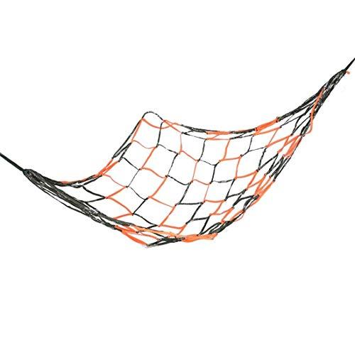LHQ-HQ 75' x 28' Nylon Mesh Sleeping Bed Olive Green Orange Hammock for Hiking Camping