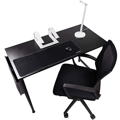 STRMD Alexa Enabled WFH Super Kit con Carga inalámbrica, Silla de Oficina, Soporte para portátil, lámpara de Escritorio y Alfombrilla para ratón