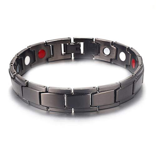 ZYFWBDZ Titanium Magnetic Therapy Bracelet Schnarchen zur Verringerung der magnetischen Gesundheit und Anti-Schnarchen-Armband Anion Anti-Schnarchen, um den Schlaf zu fördern,B
