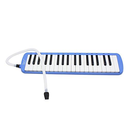 Instrumento Musical De Armónica con Teclado De Melodica De 37 Teclas Y Bolsa De Transporte - Azul