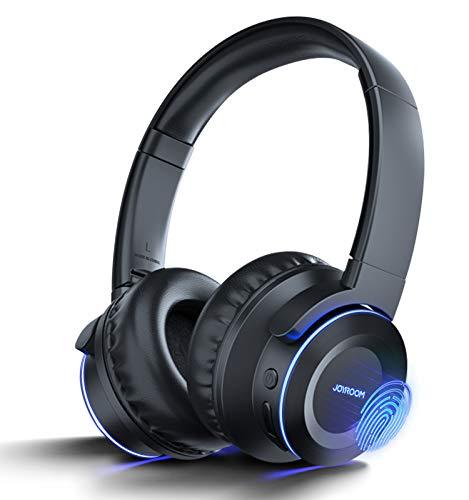 Avanzato 3 in 1 - Cuffie Bluetooth touch senza fili, stereo, Hi-Fi, riduzione del rumore, pieghevoli, con microfono integrato, Cool 7 colori, 40 ore di autonomia micro SD per telefono PC