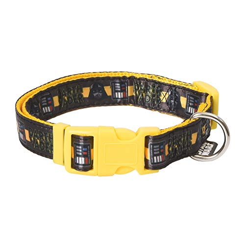 Star Wars Darth Vader Large Dog Collar   Yellow and Black Large Dog Collar   Dog Collar for Large Dogs with D-Ring, Cute Dog Apparel & Accessories for Pets