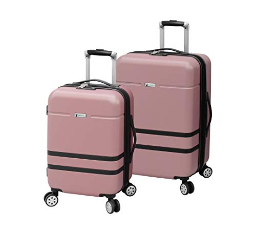 London Fog Southbury II Hardside Spinner Luggage, Blush, Checked-Medium 25-Inch