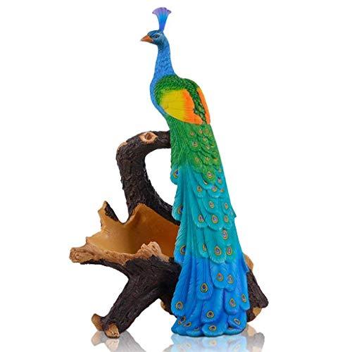 ZYYH Harz Pfau Weinregal Skulptur Dekoration Weinschrank Kreative Praktische Restaurant Handwerk Ornamente