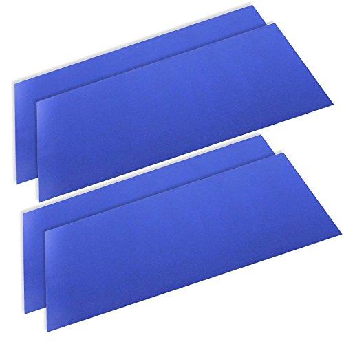 SPARES2GO Ontdooien Koelkast Vriezer Mat Duurzame Anti-Frost Liner (50cm x 25cm, Pack van 4)
