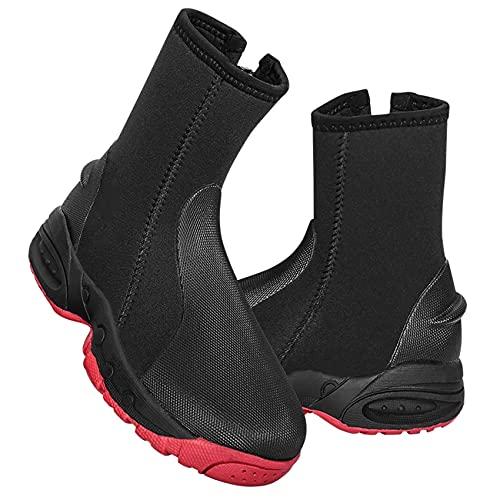 POOPFIY Neopreno de 5 mm Botas Altas Altas cálidas Unisex Agua Deporte Zapatos de Snorkeling Pesca Touit Equipo de natación,7