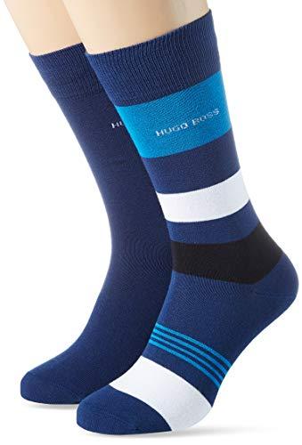 BOSS Herren 2P RS Stripe CC Socken, Open Blue491, 39-42
