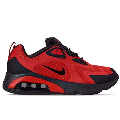 Nike Men's Air Max 200 Casual Shoes (8, Habanero Red/Oil Grey)