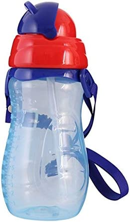 XGQ baby Water zuigfles Met Stro Portable Cartoon Save Cups Sport Bottles Babyvoeding Cups blauw ColorBlue