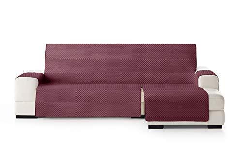Eysa Oslo Funda, Poliéster, Burdeos/Gris, Chaise Longue Extra 290cm. Válido para sofá Desde 300 a 350cm