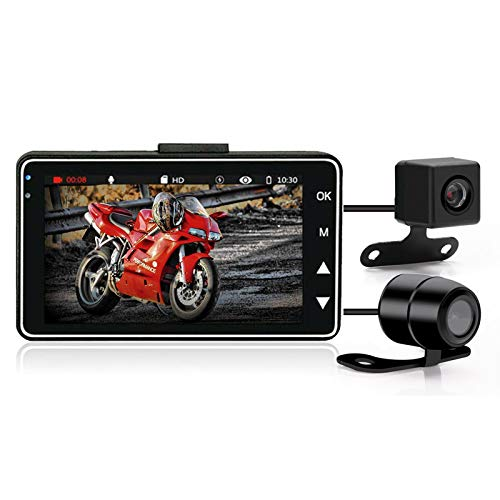 "3""1080P HD Motorcycle Camera DVR Motor Dash Cam with Special Dual-track Front Rear Recorder Motorbike Electronic Moto Waterproof"