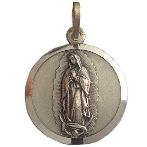 Medalla de la Virgen de Guadalupe En plata maciza 925 millièmes