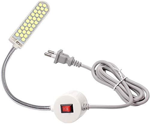 Lixada 1PC/ 2PCS 1W 20LED Máquina de Coser Lámpara de Luz Base Fija Magnética Flexible Tubo Flexible Cuello de Ganso Diseño (30LEDS) (2PCS)