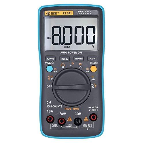 BJLWTQ LCD multímetro digital de alta precisión del multímetro de retroiluminación LCD ZT301Digital multímetro Handheld eléctrico