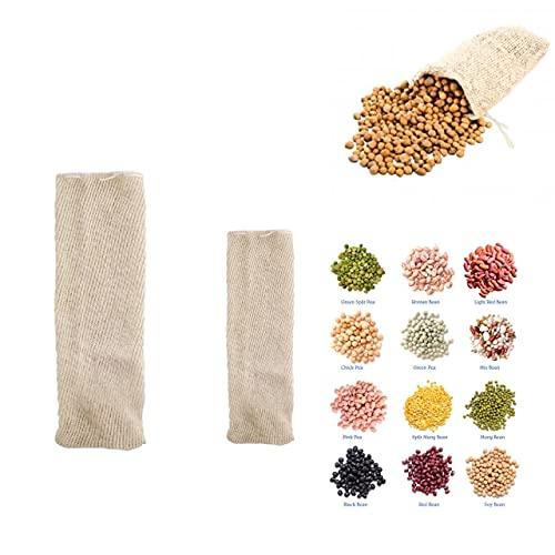 Lote Bolsas de Cocción para Legumbres 1 de 2Kg + 1 de 1kg | Algodón 100% puro | Apto para todos Tipos de Legumbres Para meter en la olla a Presión (Bolsa Marrón)