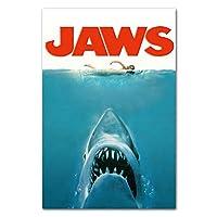 Suuyar Jaws 1 23映画のポスターとプリント壁アートプリントリビングルーム用キャンバスホームベッドルーム装飾カフェ-20X30インチX1フレームレス