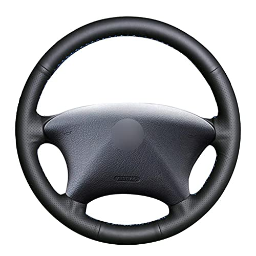BAOJUNBO DIY Cubierta de Volante Negro Cosido a Mano, Adecuado para Peugeot Partner Citroen Xsara Picasso 2001-2004 Accesorios para automóviles