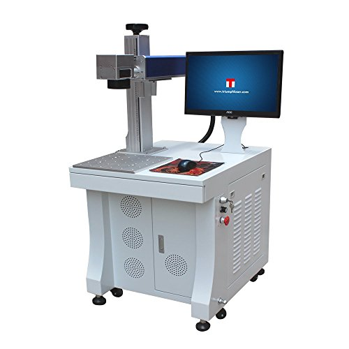 Triumph 30w Fiber Laser Marking deep Engraving Machine Metal polymers Parts Marker Engraver Rotary jewllery Silver Cutting Firearms 110x110 and 200x200mm Lens
