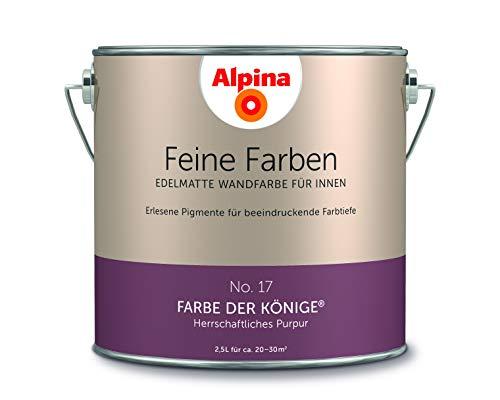 Alpina 2,5 L. Feine Farben, Farbwahl, Edelmatte Wandfarbe für Innen (No.17 Farbe der Könige - Herrsc