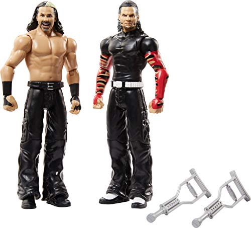 WWE Matt Hardy vs Jeff Hardy Battle Pack Series #65 with Two 6-inch Articulated Action Figures & Ring Gear