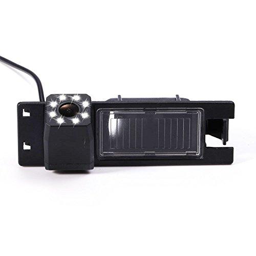 Rückfahrkamera wasserdicht Nachtsicht Auto Rückansicht Kamera Einparkhilfe Rückfahrsystem, Kennzeichenleuchte für New Lacrosse/Astra H/Zafira B/Corsa D/Vectra C(Nr. 3 mit LED-Kamera)
