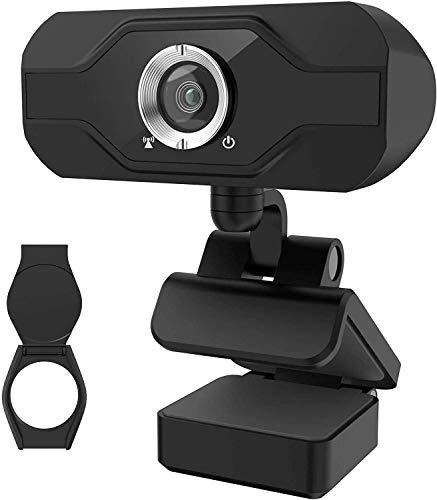 PIPRE PC-Webcam mit Mikrofon 1080P FHD, Plug-and-Play-USB-Webcam mit Datenschutzabdeckung, geeignet für Desktop- und Laptop-Meetings, Konferenzen, Zoom, Skype, Facetime, Windows, Linux und Mac