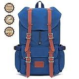 Fjorda Canvas Rucksack Fidelio - Als Handgepäck, für die Schule oder Uni, mit Laptop-Fach - Viel Platz durch 23L Volumen - Für Damen und Herren (Blau)