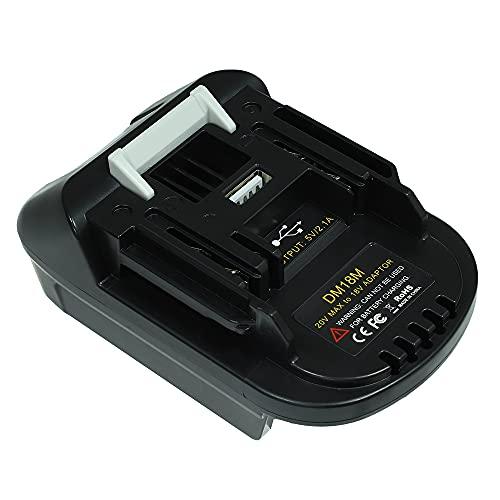 Adaptador de batería DM18M para Makita 18V herramientas eléctricas de batería de litio de ,convertir con Dewalt o con Milwaukee batería de iones de litio para Makita18V BL1830 fuente de alimentación