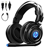 HP Wired Stereo Gaming Headset with mic, for PS4, Xbox One, Nintendo Switch, PC, Mac, Laptop, Over...